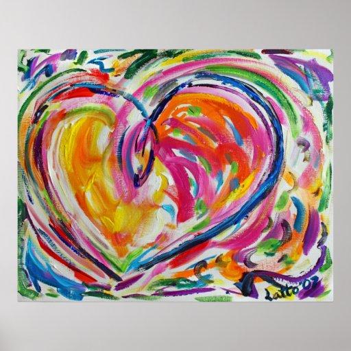 Heart of Joy Painting Art Poster Prints