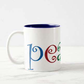 Heart of Love, Peace Coffee Mugs