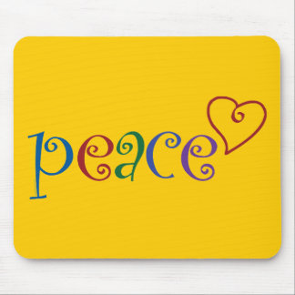 Heart of Love, Peace Mousepad