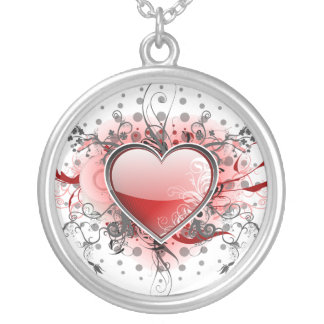 Heart of love - silver plated necklace