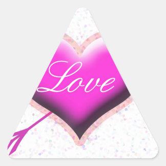 Heart of Love Triangle Sticker