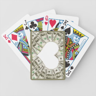 Heart of money designed Playing cards. Bicycle Playing Cards