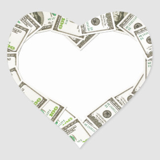 Heart of money stickers