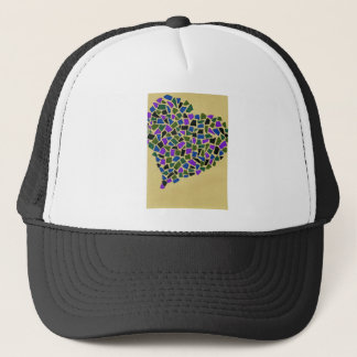 Heart of mosaic trucker hat
