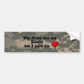 Heart of my Soldier Bumper Sticker