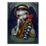 Heart of Nails ART PRINT gothic Valentine fairy