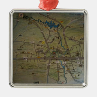 Heart of New Braunfels, Texas Christmas Ornament