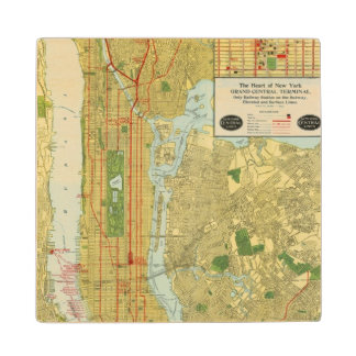 Heart of New York Wood Coaster