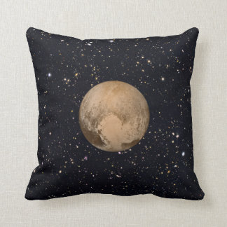 Heart of Pluto Starry Sky Throw Pillow