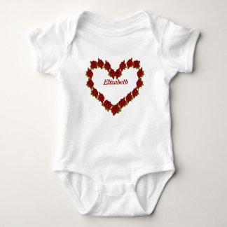 Heart of roses baby bodysuit