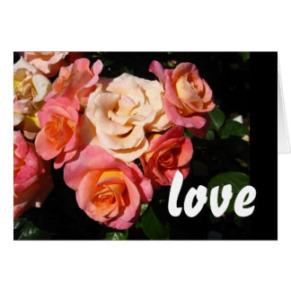 Heart of Roses * Love * Wedding Greeting Card