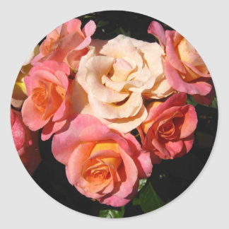 Heart of Roses * Love * Wedding Round Sticker