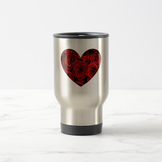 Heart of Roses Travel Travel Mug
