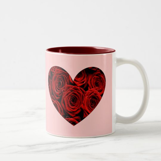 Heart of Roses Two-Tone Coffee Mug