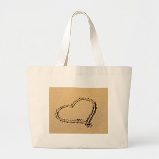Heart of Sand Tote Bags