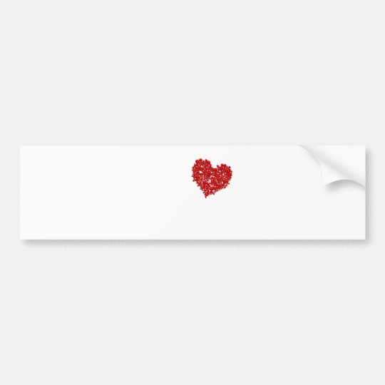 Heart of Skulls - Emo Alternative Grunge Rock Punk Bumper Sticker