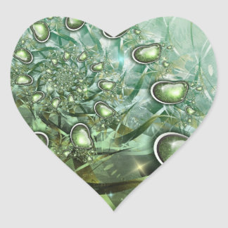 heart of spring heart sticker