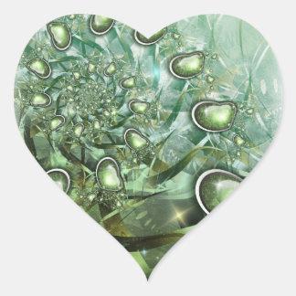 heart of spring heart sticker