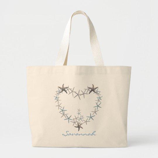 Heart of Starfish Personalised Tote Bag