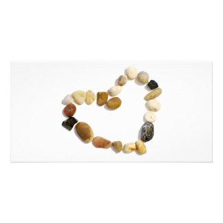 Heart of Stones Custom Photo Card