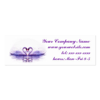 Heart of Swans in Lilac Business Card
