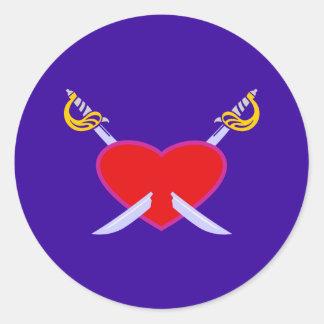 Heart of swords heart swords sticker