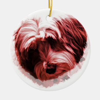Heart of the Tibetan Terrier Christmas Ornament
