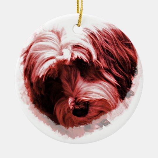Heart of the Tibetan Terrier Christmas Ornament