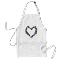Heart of Violets Adult Apron