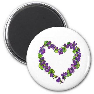 Heart of Violets Magnet