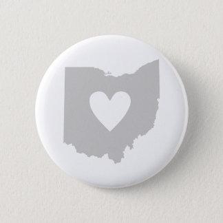 Heart Ohio state silhouette 6 Cm Round Badge