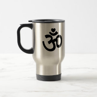 Heart Om Sign - Yoga Travel Mug