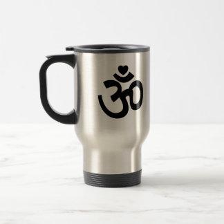 Heart Om Sign - Yoga Travel Mug