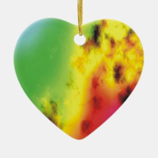 Heart on Fire Ceramic Heart Decoration