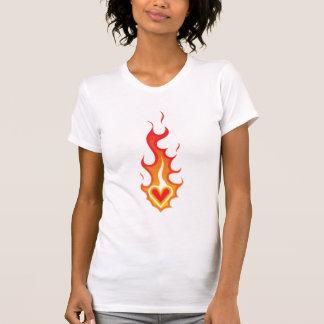Heart on Fire Tattoo T Shirts