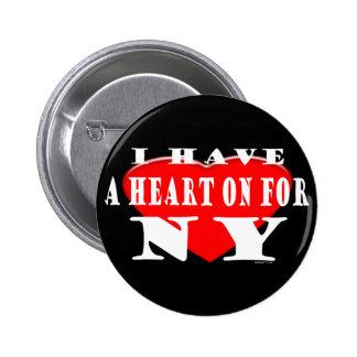 Heart On NY Button