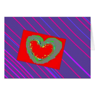 Heart on Pinstripe Cards