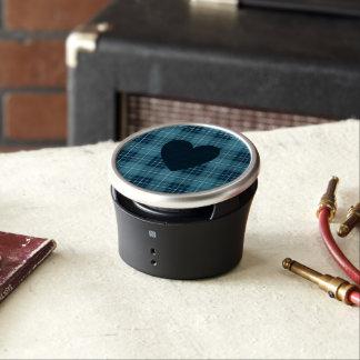 Heart on Plaid Blues Bluetooth Speaker