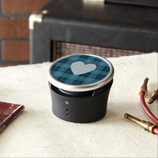Heart on Plaid Blues II Bluetooth Speaker