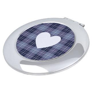 Heart on Plaid Blues II Compact Mirrors