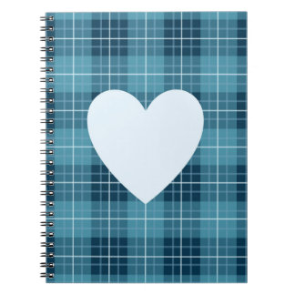 Heart on Plaid Blues II Notebook