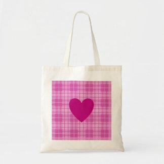 Heart on Plaid Pinks I