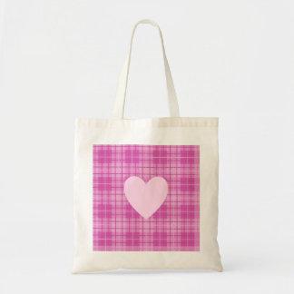 Heart on Plaid Pinks II