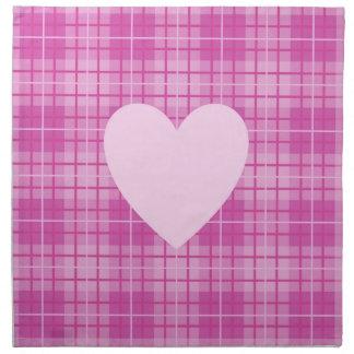 Heart on Plaid Pinks II Napkin