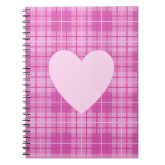 Heart on Plaid Pinks II Notebooks