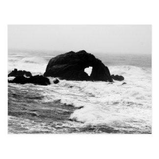 Heart on Rocks in the Ocean Postcard