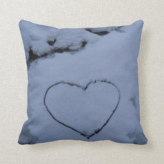 Heart on Snow Cushion