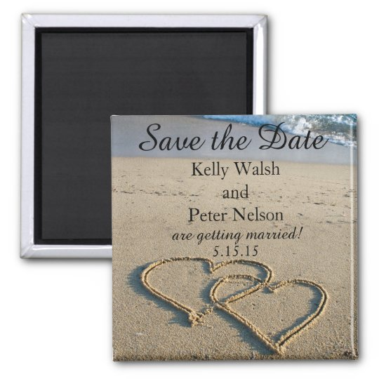 Heart on the Shore Beach Save the Date