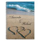 Heart on the Shore Beach Wedding Custom Guest Book