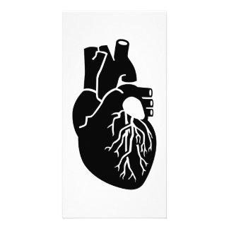 Heart Organ Personalised Photo Card